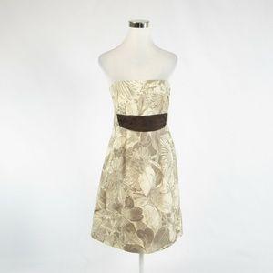 Moulinertte Soeurs beige floral A-line dress 8